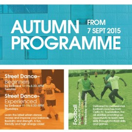 Autumn Programme 2015 from 7th September!