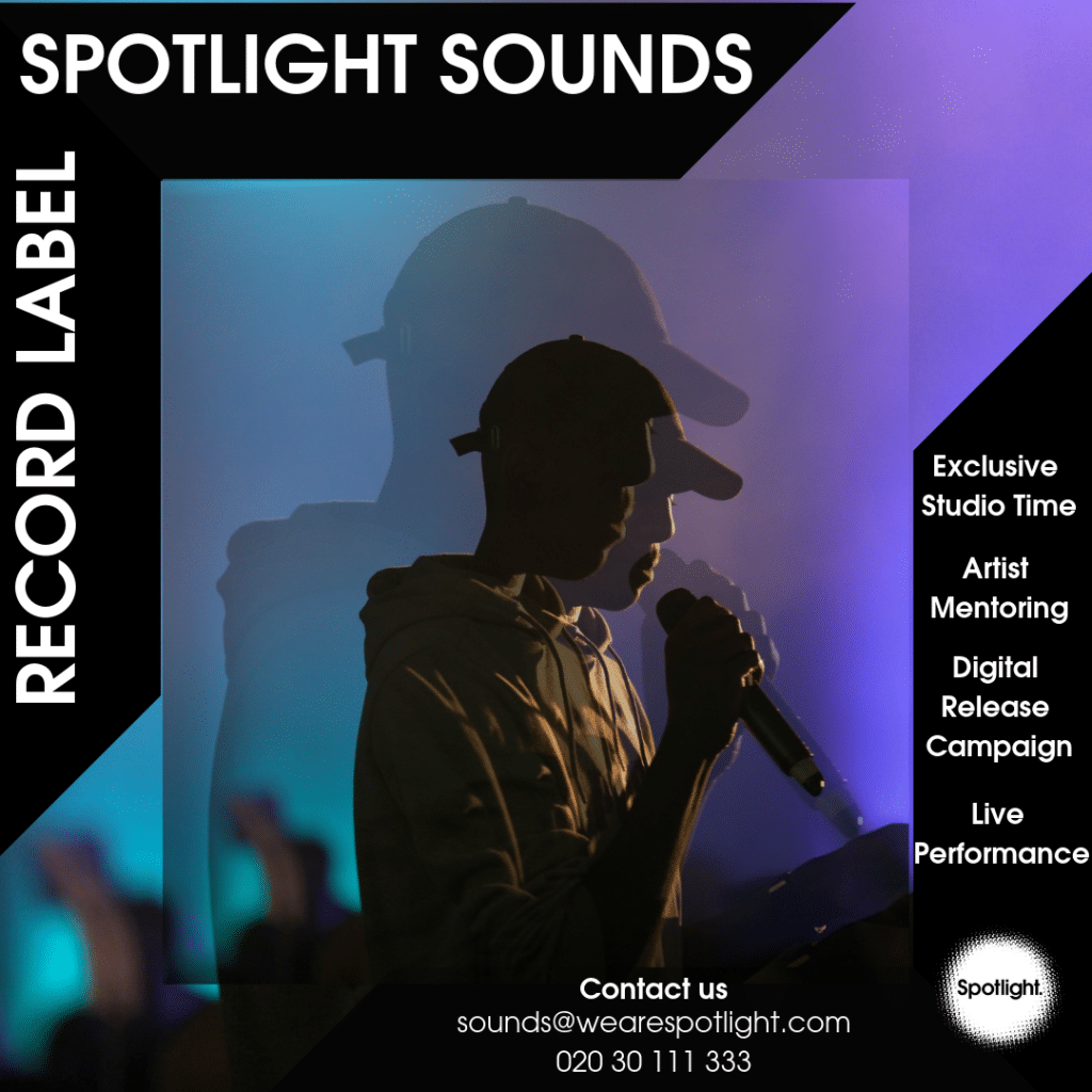 SPOTLIGHT SOUNDS POSTER music record label Tower Hamlets East London