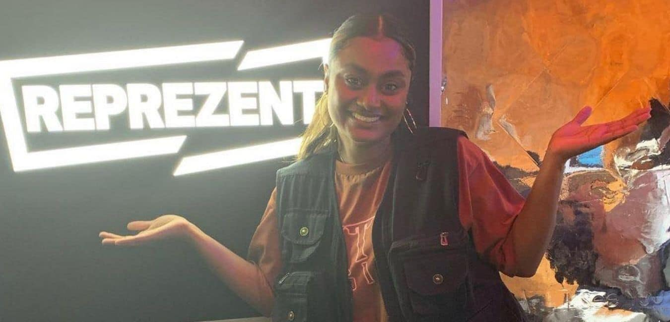 Artist Pritt at Reprezent Radio just before her song went on air